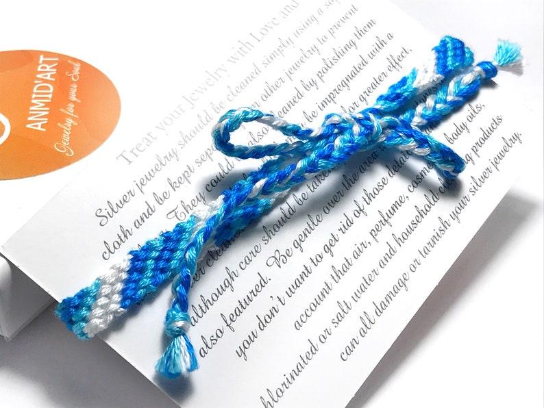 Blue Bracelet Blue Braided Bracelet Duo  Blue Turquoise Bracelet Turquoise Orange Unisex Bracelet Knotted Bracelet Orange Braided