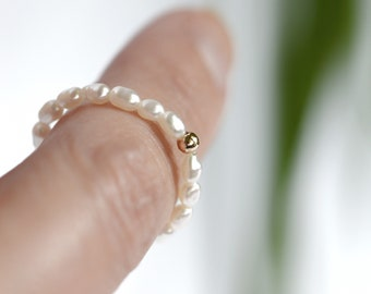 silver gold beaded rings