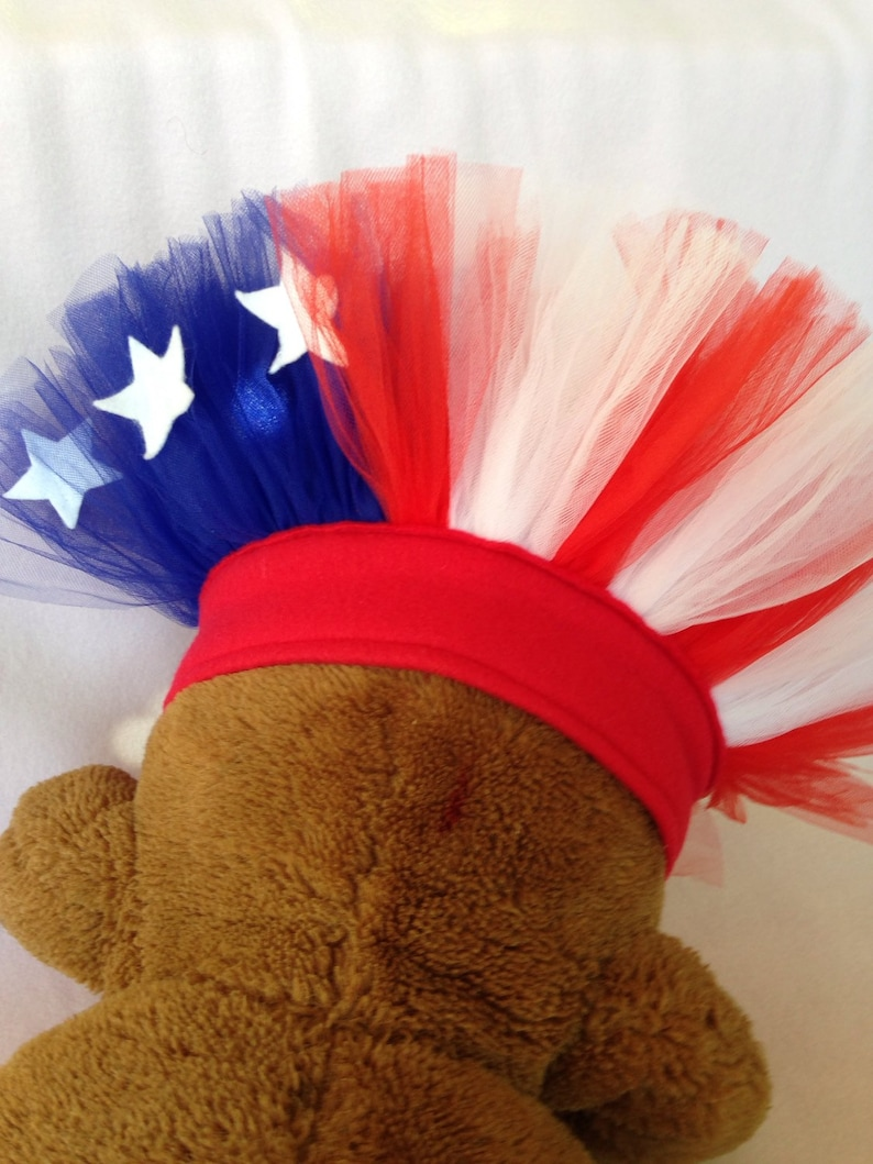 American Flag Dog Tutu Pet Parade Costume Fourth of July Tutu image 1