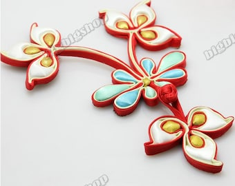 Fabric Sewing Fasteners Satin Flower Handmade Chinese Closure Knot Frog Cheongsam Buttons