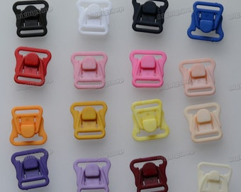 Lots 10set Mommy Lingerie Underwear bra Mommy Nursing Clasps maternity Breast feeding Clips Front Nylon Buckles Colored