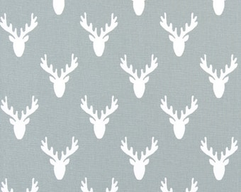 Custom Shower Curtain Buck Deer Antlers Cool Grey Stall Choose Size Buttonholes 72 X Extra Wide Or Narrow