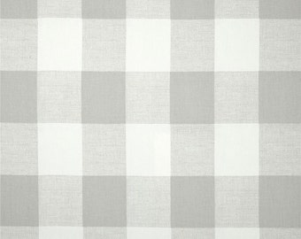 Light Grey And White CHECK CURTAINS Check CurtainsLarge Curtains Buffalo CheckPair Drapery Panels24 Wide52 WideValance