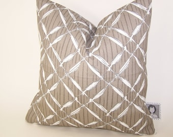 Beige Outdoor Pillow -  Tan PILLOW - Outdoor - Various Sizes - Lattice - Nautical - Seashore - Cove - Accent Pillow - 20x20,18x18,22x22