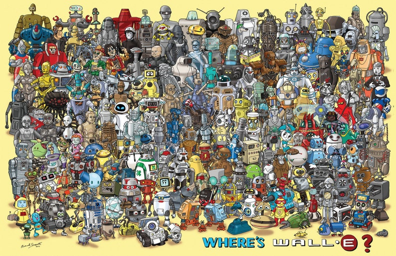 A1 size 'Where's WALL-E' poster image 0
