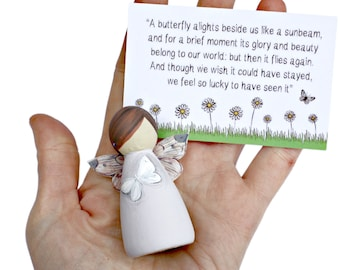White Butterfly Fairies - Miscarriage gift - Baby loss memorial - Sleeping Angel Gift - Bereaved mum gift - Bereavement Gift - Sympathy Gift