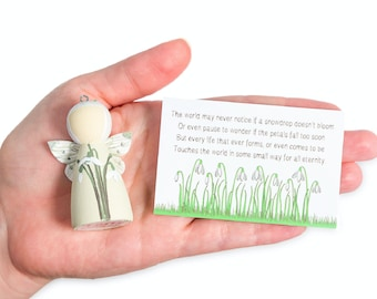 Snowdrop Miscarriage Gift & Keepsake Fairy for Baby/Infant loss