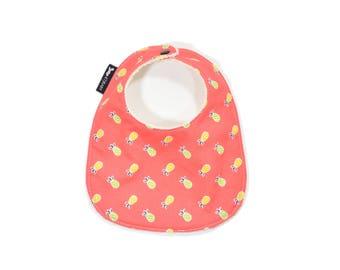 Pineapple Baby Bib or Toddler Bib | Tropical Bib |  Girl Baby Gift | Handmade Bib