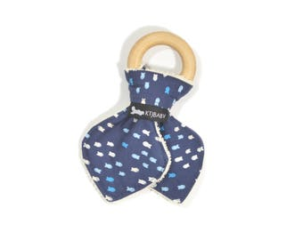 Nautical Teething Ring | Fish Teether | Gender Neutral Baby Teether | Unisex Teether | Nautical Baby Gift | Fish Baby Gift