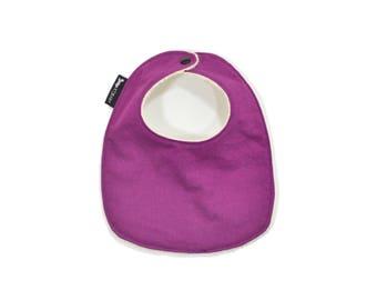 Organic Orchid Purple Baby Bib | Organic Purple Toddler Bib | Organic Baby Gift | Orchid Baby Or Toddler Bib