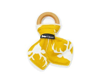 Yellow Deer Teether | Yellow Teether | Gender Neutral Baby Gift | Yellow Deer Baby Gift | Yellow Deer Teething Toy