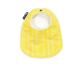Yellow Baby Bib | Yellow Toddler Bib | Yellow Baby Gift | Yellow Herringbone Toddler Bib | Yellow Herringbone Bib | Thick Baby Bib