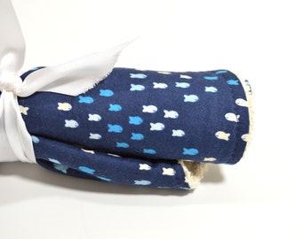 Fish Burp Cloth | Nautical Burp Cloth | Contoured Burp Cloth |  Gender Neutral Burpie | Modern Burp Cloth | Nautical Baby Gift