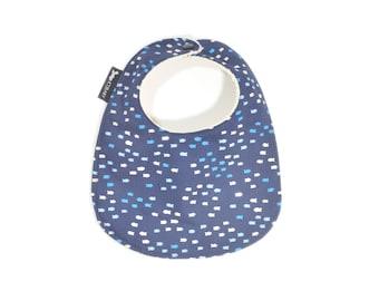 Fish Baby Bib | Modern Blue Toddler Bib | Blue Baby Gift | Blue Triangles Toddler Bib | Blue Triangles Bib | Modern Baby Bib