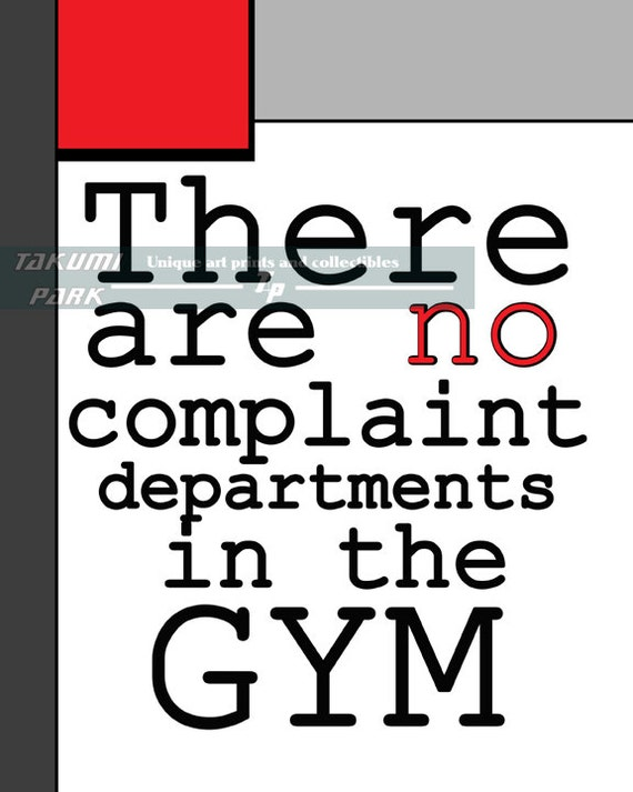 37291b23ac4330 Gym Quote Art Print Gym Decor Fitness Inspiration Quote