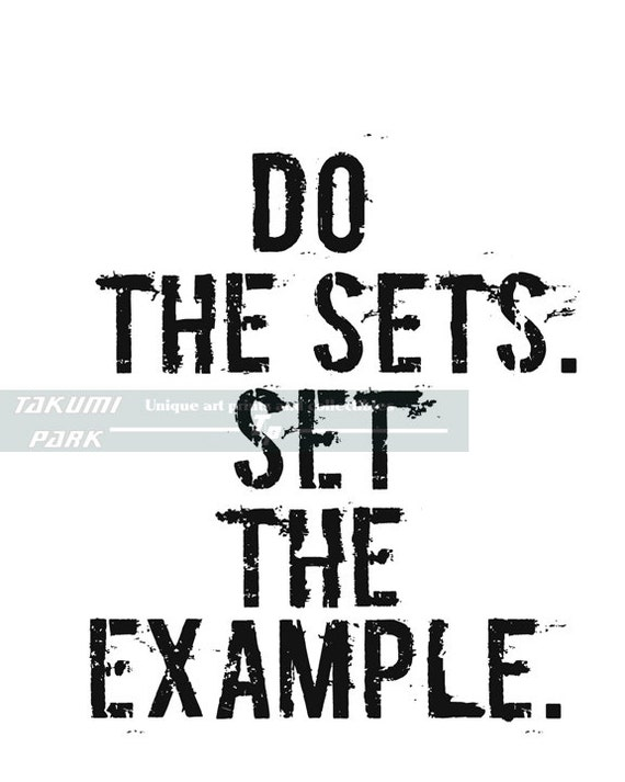 Do The Sets Set The Example Fitness Motivation Quote Etsy