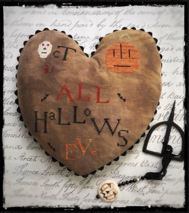 All Hallows Eve Heart Cross Stitch Chart