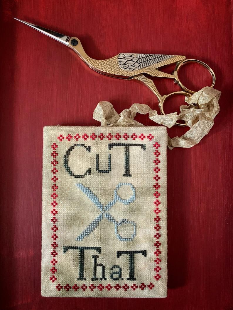 Cut That Scissor Fob Cross Stitch Chart Pdf