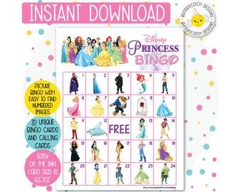 graphic regarding Disney Bingo Printable called Disney bingo Etsy