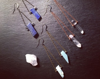 Drop Earrings with choice of Gemstone