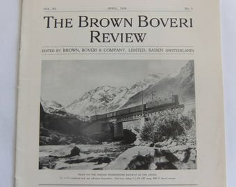 April 1928 - The Brown Boveri Review - BBC - Train on the Chilian Transandine Railway in the Andes