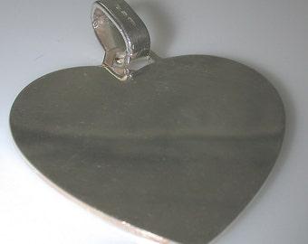 Sterling Silver Pendant Silver Heart Pendant