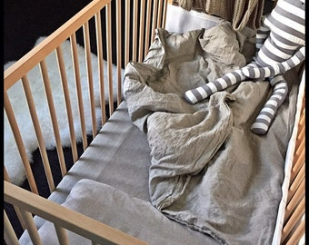 Linen Crib Bedding Etsy