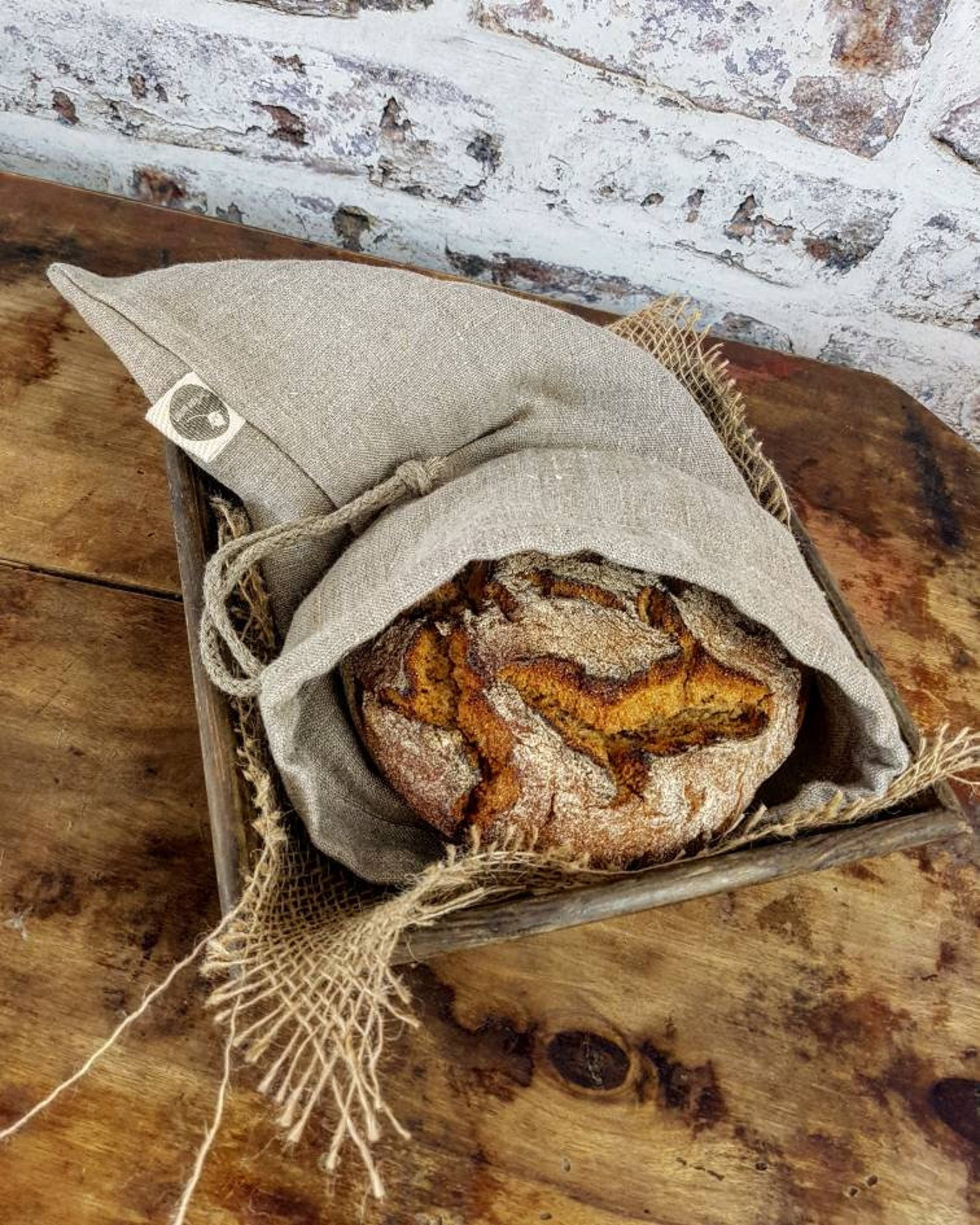 BUY this linen bread bag from Etsy!