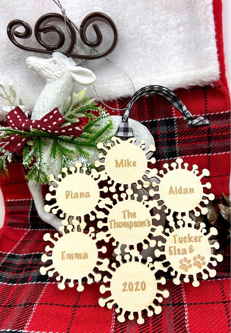 2020 Christmas Tree Ornament Christmas 2020 Covid Kids Quarantine Christmas Ornament Pandemic Tree Ornament
