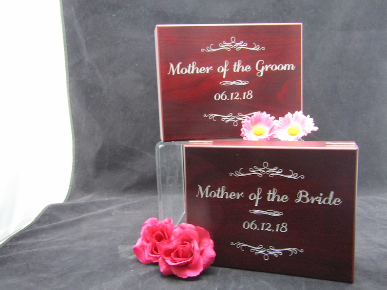 Jewelry Box Mother of the Groom Gift Mother of Bride Groom Keepsake Memory Rosewood Finish Box Personalized Gift Box Mom Mother/'s Day
