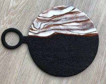 Blackened Mango Wood Serving Board