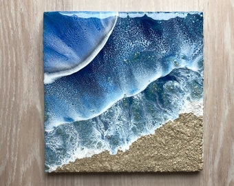 "12""x12"" Resin Beach Art"