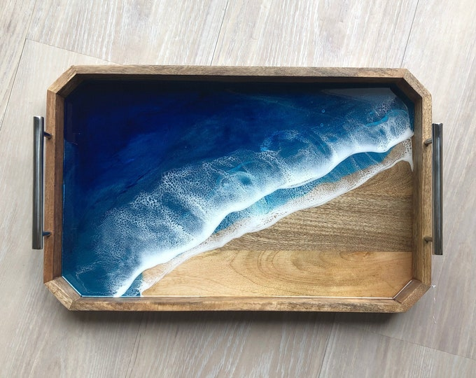 Featured listing image: Decorative Mango Wood and Resin Tray