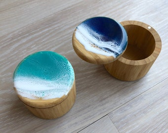 Resin Wave Art Bamboo Container