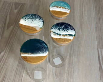 Ocean themed glass container