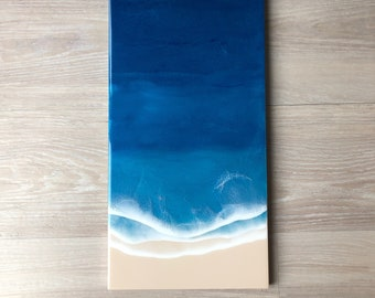 "12""x24"" Resin Beach Wall Art"