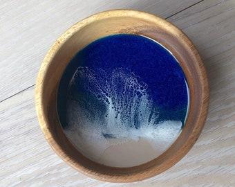 "4"" Resin Wood Ring Dish"