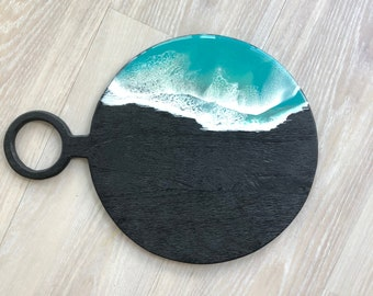 Blackened Mango Wood Serving Board