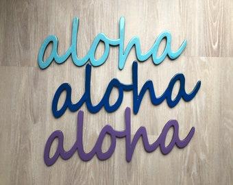 """24"""" Resin Aloha Sign"""