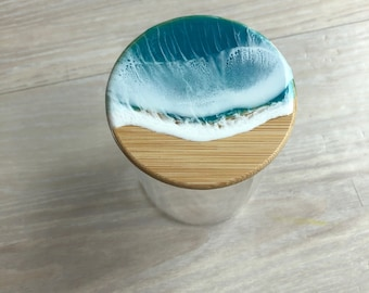 Ocean glass container