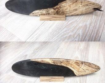 """18"""" Koa Wood and Resin Surfboard"""