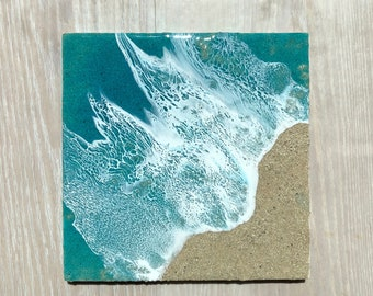 "10""x10"" Resin Beach Art"