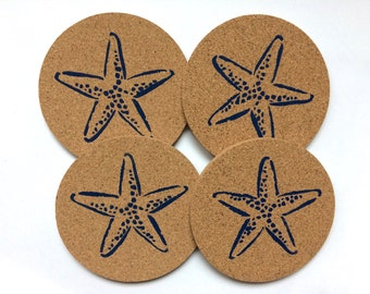 Starfish Cork Coasters