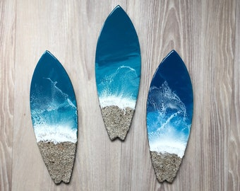 "12"" Resin Surfboard Wall Art"