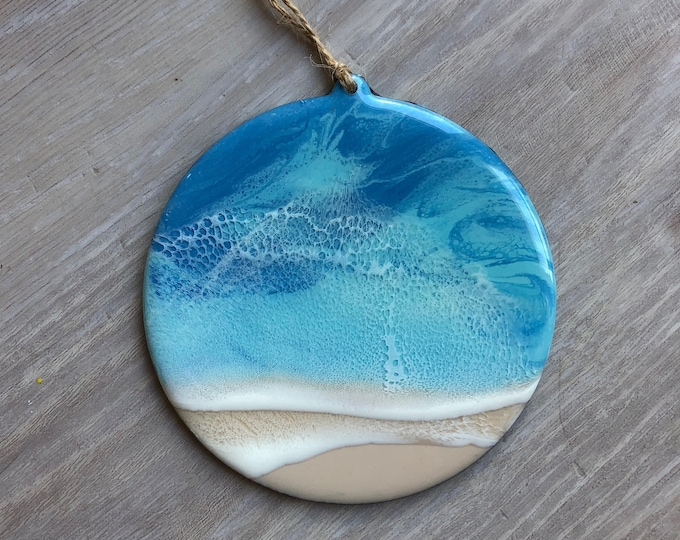 Featured listing image: Round Resin Beach Ornament
