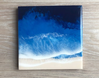 "8""x8"" Resin Beach Art"