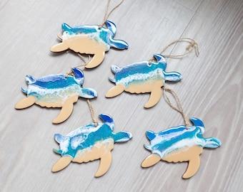 Sea Turtle Resin Ornament