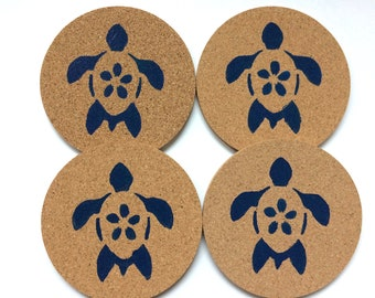 Sea Turtle Cork Coasters