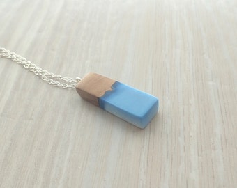 Koa Wood and Blue and White Resin