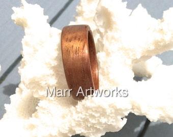 Koa Wood Bentwood Ring